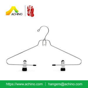 Metal Clothes Hangers with Rubber Coated Clips (MC100) pictures & photos