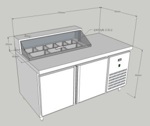 Preparation Work Bench Table Chiller Refrigerator Freezer for Resteraurant pictures & photos