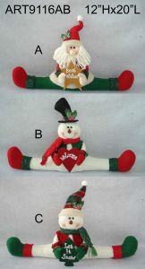 "10""Hx13""L Snowman Doorstopper, 2 Asst-Christmas Decoration pictures & photos"