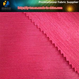 Polyester Slub Satin Silk Fabric, Double Effect for Garment/Shoes (R0039) pictures & photos