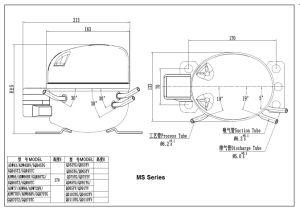 R404A Compressor, Light Commercial Refrigeration Compressor-Gqr55k, Lbp, 220V, 1/4HP pictures & photos
