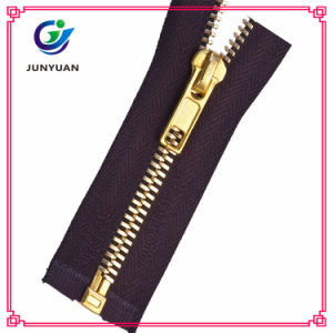 Golden Brass Zipper Close End H Stopper for Jean pictures & photos