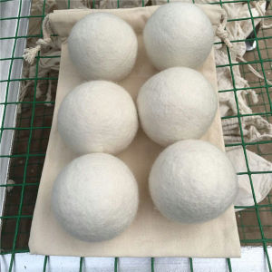 Cotton Bag Packing Wool Dryer Balls, 6PCS Per Set pictures & photos