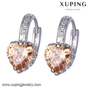 94583 Fashion Rhodium Heart Shaped Best Gift Jewelry Earring pictures & photos