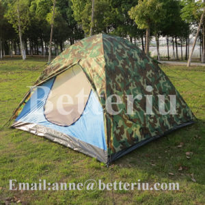 Camping Tent with Camoflage Rain-Blocking Awning pictures & photos