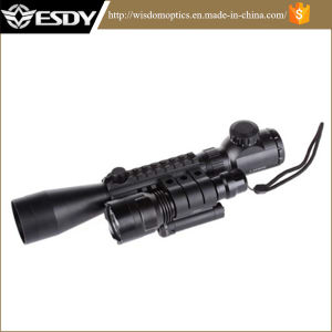 3-9X40e R&G/Weaver Rail+Red Laser+CREE LED Flashlight Rifle Scope Illuminate pictures & photos