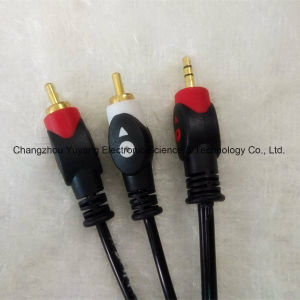 Fisheye 3.5 Stereo Phone Plug to 2RCA AV Cable pictures & photos