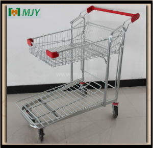 Flat Warehouse Hand Trolley Mjy-M02 pictures & photos