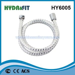 Hy6005 PVC Shower Hose (PVC shower hose with silver wire) pictures & photos
