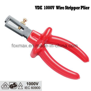 VDE 1000V Insulated Wire Stripper Plier with Dipped Handle pictures & photos