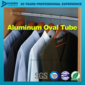 Aluminium Aluminum Profile for Wardrobe Oval Tube pictures & photos