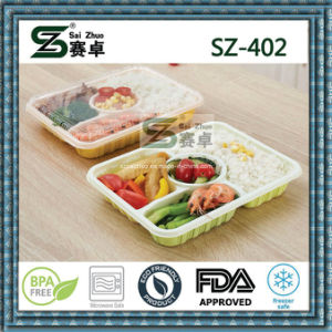 4compartment Disposable Plastic Food Lunch Box pictures & photos