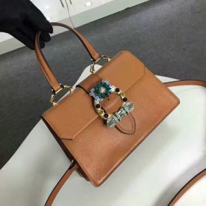 Europe Style Famous Brand Name Diamond Women Hand Leather Bag pictures & photos