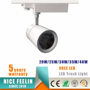 30W Black/White Housing CREE COB LED Track Light for Commercial Lighting pictures & photos