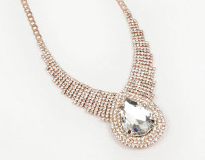 Casual Jewelry Wholesale Polishing Silver Chain Bead Necklace Designs with Gold Stones pictures & photos