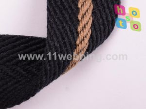 Stripe Polyester Cotton Woven Webbing for Belt pictures & photos
