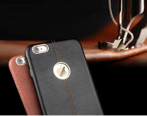 iPhone 6 Leather Mobile Phone Case pictures & photos