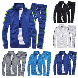 Men Contrast Jogging Full Tracksuit (A800) pictures & photos