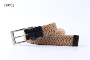 Brown PU+ Cotton Braid Ladies Belt, Fashion Accessories Women Belts with Pin Bulcke pictures & photos