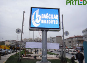 High Brightness Outdoor SMD3535 P10 LED Advertising Display with 1/2 Driving Scan pictures & photos