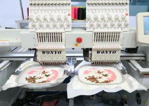 2 Heads Embroidery Machine for Industrial Use pictures & photos