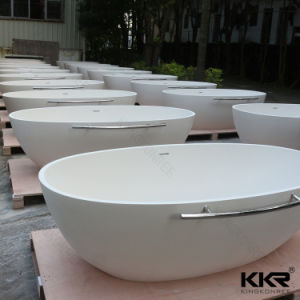 Modern Bathroom Acrylic Stone Freestanding Bathtub for Hotel pictures & photos
