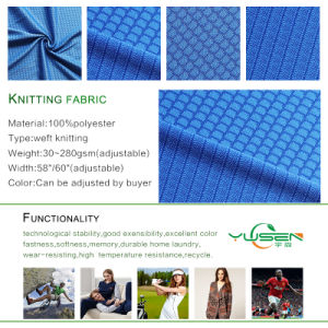 Wholesale Wicking Dry Fit Athletic Honeycomb Mesh Sport Fabric pictures & photos