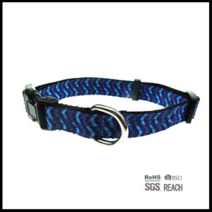 Light Blue Pet Puppy Dog Collar with Multi Stitch pictures & photos