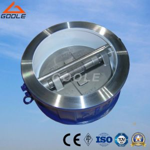 API594 Dual Plate/Double Plate Wafer Type Swing Check Valve (GAH76H) pictures & photos