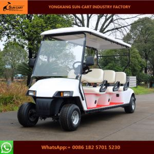 6 Seater Electric Transport Cart with Rear Cargo Box pictures & photos