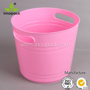 Round Pink Ice Bucket Tub for Wine Beer Bottles pictures & photos