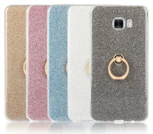 Glitter Finger Ring Buckle Stand TPU Case for Smart Phone pictures & photos