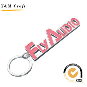 Custom Metal Letter Key Ring with Logo Color Filled pictures & photos