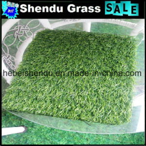 Building Roof Synthetic Turf Grass 25mm with Drain Holes pictures & photos