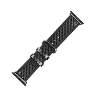 Hottest Luxury Custom Real Carbon Fiber Watch Exercise Band Leather Fashion Wrist Watch Band pictures & photos