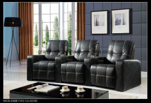 Recliner Sofa Leather Armchair Reclining Cinema Seat Adjustable Footrest 3seat pictures & photos