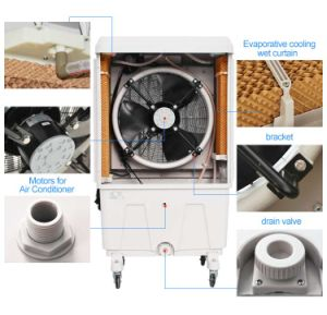 Super Portable Water Evaporative Air Cooler with Honeycomb Cooling Pad pictures & photos