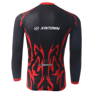 Sublimation Custom Long Sleeve Cycling Jersey Sets, Cycling Wear, Riding Suit Bicycle Jersey and Pants for Winter pictures & photos
