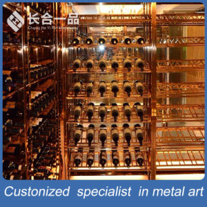 Hotsale Stainless Steel Silver Wine Display Rack Furniture pictures & photos