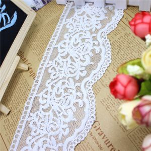 Factory Stock 10cm Width Embroidery Micro Fiber Net Lace Embroidery Trimming Fancy Mesh Lace for Garments Accessory & Home Textiles (BS1115) pictures & photos