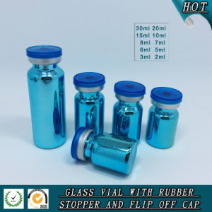 Shiny Blue UV Electroplating Glass Vial Glass Bottle pictures & photos