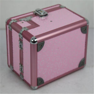 Manufacturers Professional Korean Portable Double Open Cosmetics Train Case pictures & photos