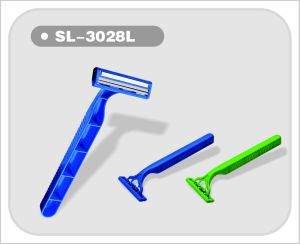 Twin Blade Razor in Pivoting Head with Lubricant Strip (SL-3028L) pictures & photos