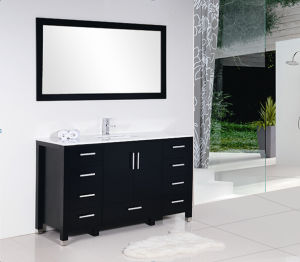 2016 New Style Black Matt Nine Drawers Painting Bathroom Cabinet