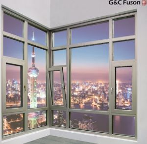 2017 New Aluminum Casement Window with Double Tempered Glass pictures & photos