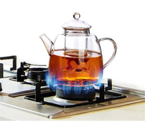 Heat-Resisting Glass Tea Pot Hand Blown pictures & photos