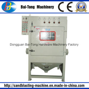 Tumblast Rubber Belt Type Auto Sandblasting Machine pictures & photos