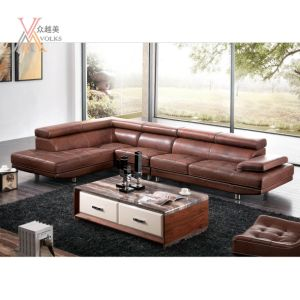 Top Grain Leather Sofa Matching with Swivel Chair (1277A+32)