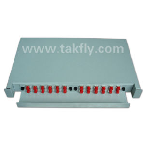 FTTH 1u 24 Cores Fixed Type Optical Fiber Rack Mount ODF pictures & photos