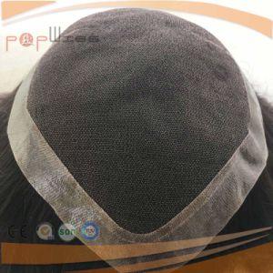 Human Hair Untouched Black Color Mens Short Toupee Wig pictures & photos